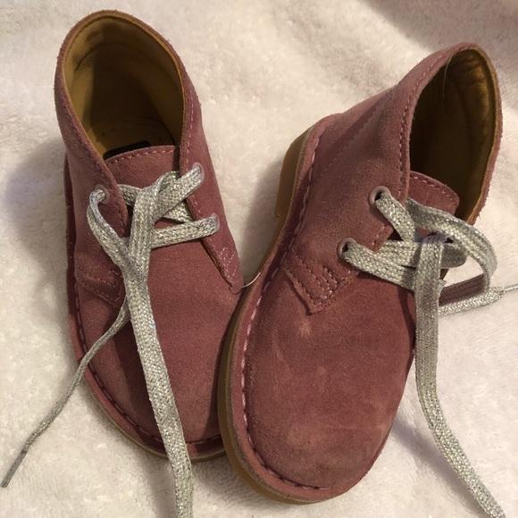 8c675348999c1 Clarks Shoes | Girls Desert Boot Toddler Vintage Pink Suede | Poshmark
